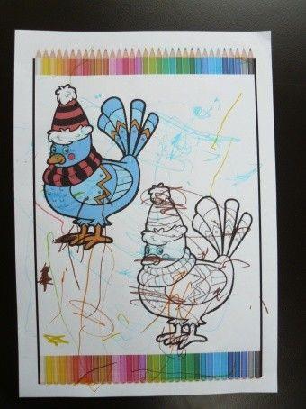 Coloriage sym trie le pigeon centerblog - Coloriage symetrie ...