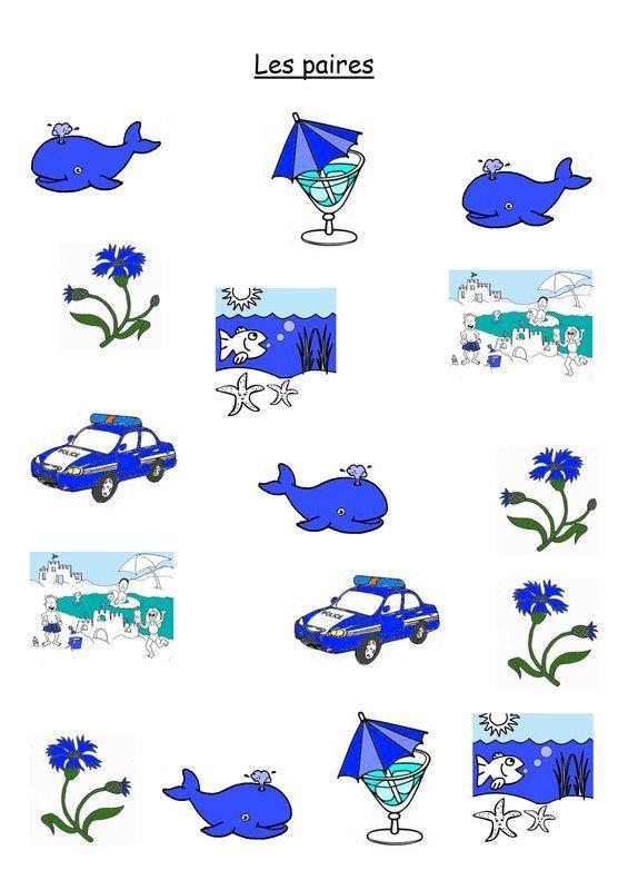 Les couleurs page 2 - La couleur bleue ou bleu ...