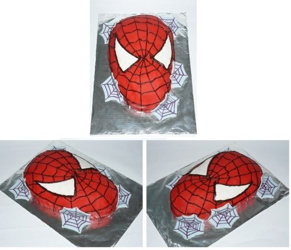 g teau anniversaire le masque de spiderman decoration gateau en spiderman. Black Bedroom Furniture Sets. Home Design Ideas