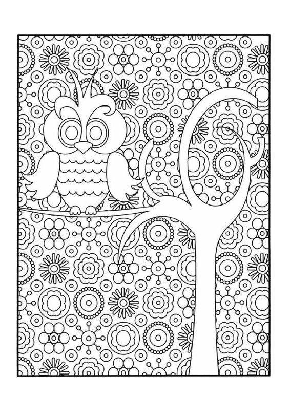 Hibou coloriage zen - Coloriage de hibou ...