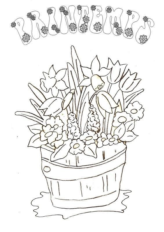 Coloriage printemps - Dessins a colorier gratuit ...