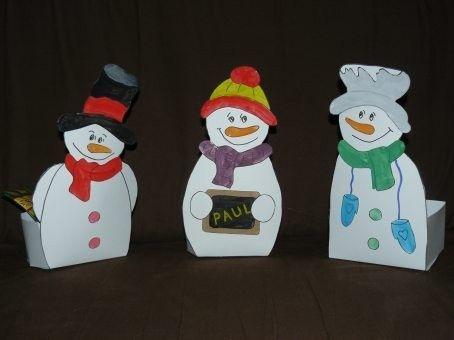 Calendrier de l 39 avent boites bonhommes de neige - Calendrier de l avent en bonhomme de neige ...