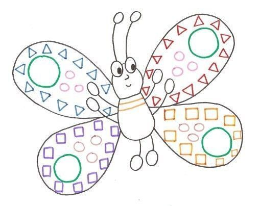 Gabarit graphisme papillon - Papillon maternelle ...