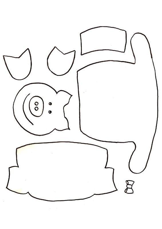 Gabarit guirlande de petits cochons - Image de cochon a imprimer ...