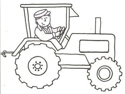 Coloriage tracteur facile great dessin coloriage - Coloriage magique tracteur ...
