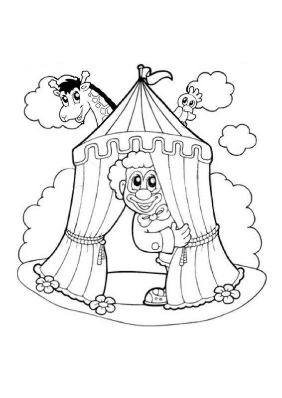 Coloriage Clown Cirque Imprimer.Coloriage Canrnaval