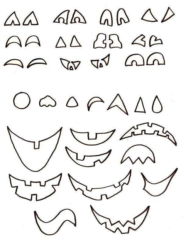 Bouche Citrouille Halloween.Gabarit Visages Citrouille D Halloween