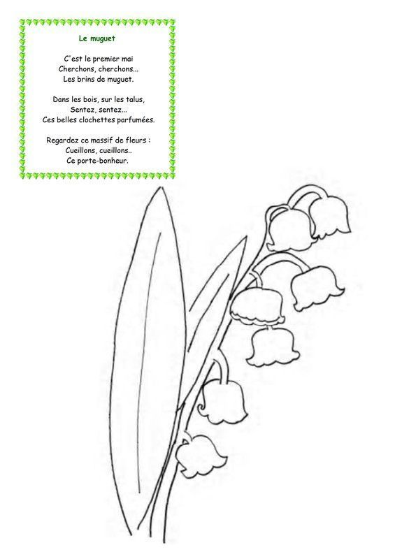 Comptine 1er mai - Muguet dessin ...