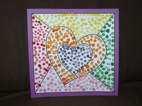 carte coeur pour la f te des mamies carte anniversaire maternelle. Black Bedroom Furniture Sets. Home Design Ideas