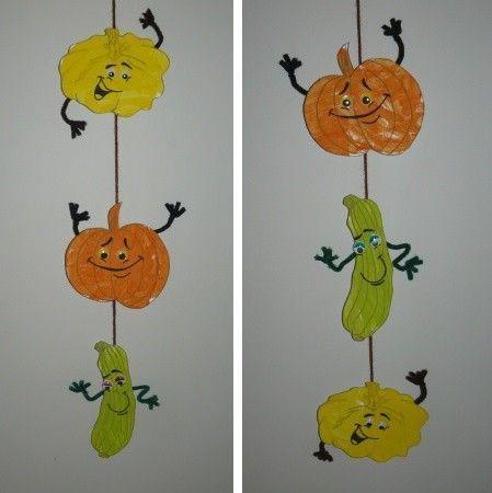 Guirlande de courges - Fruits automne maternelle ...