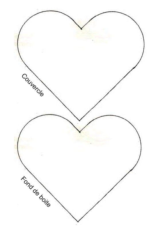 Gabarit 1 boite coeur pour la f te des mamies - Modele de coeur a decouper ...