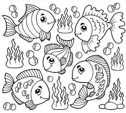 coloriage les petits poissons. Black Bedroom Furniture Sets. Home Design Ideas