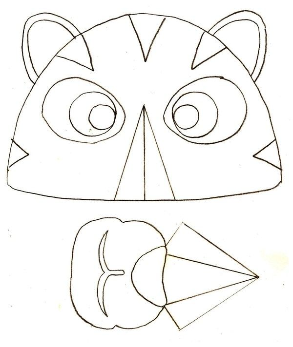 Gabarit - Masque de tigre