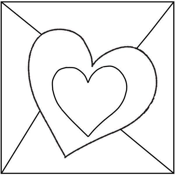 Gabarit carte coeur pour la f te des mamies - Dessin avec des coeurs ...