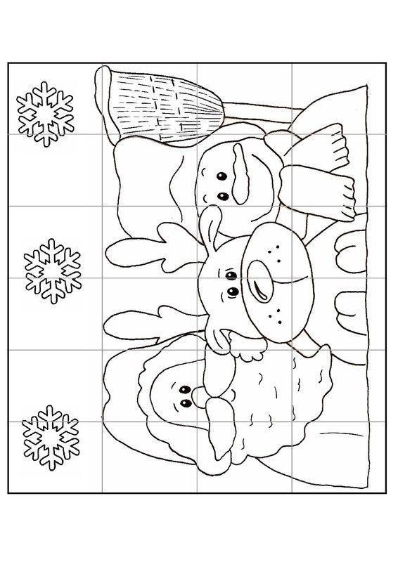 Gabarit calendrier de l 39 avent puzzle n 2 for Puzzle a colorier gratuit
