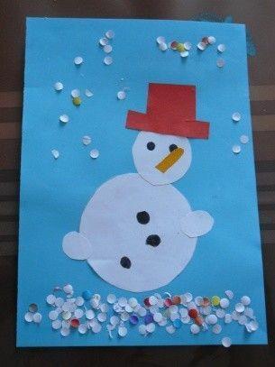 Le bonhomme de neige - Bonhomme de neige bricolage ...