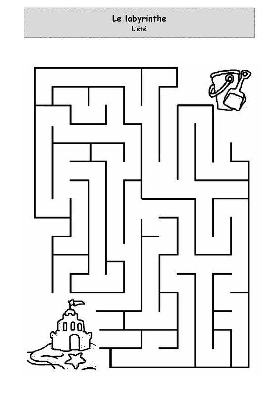 Un peu comme a ecole labyrinthe - Jeu labyrinthe a imprimer ...