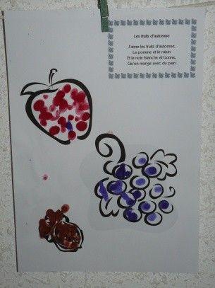Comptine fruits et legumes - Fruits automne maternelle ...