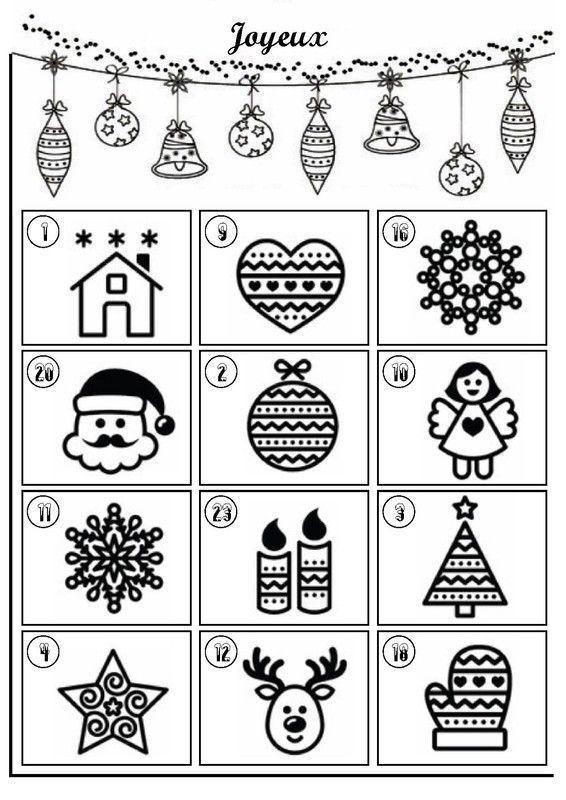 Noel calendriers de avent page 2 - Coloriage calendrier de l avent ...