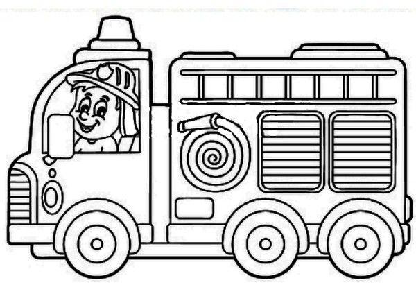 coloriage a imprimer camion de pompier