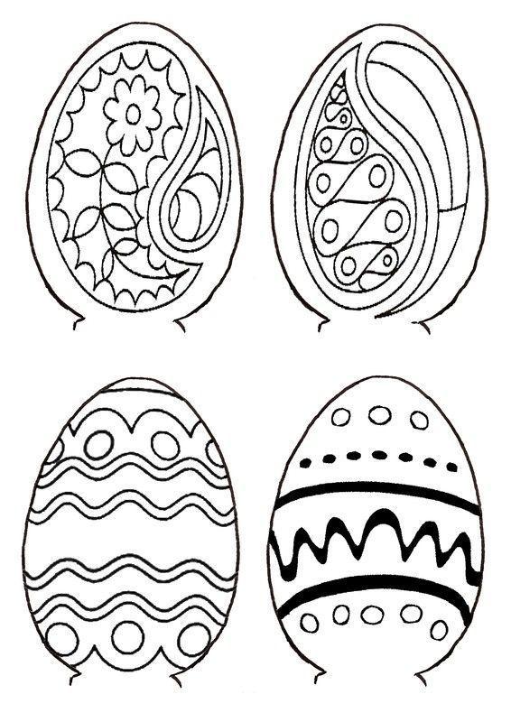 Gabarit 2 - Motifs pour boite oeuf de Pâques