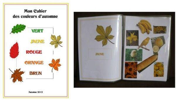 Imagier : Les couleurs de l'automne