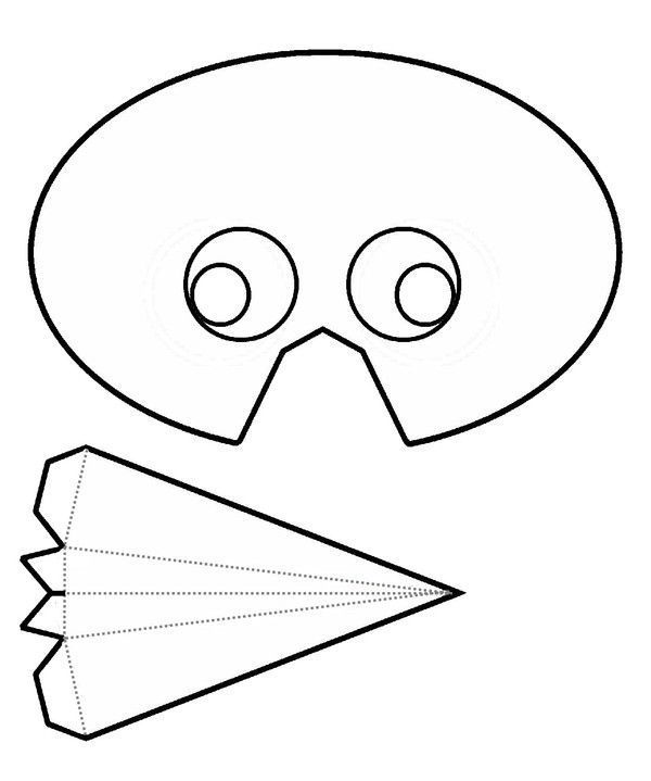 Carnaval - Masque oiseau a imprimer ...