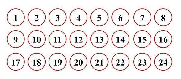 Gabarit calendrier de l 39 avent boites bonhommes de neige - Chiffres pour calendrier de l avent a imprimer ...