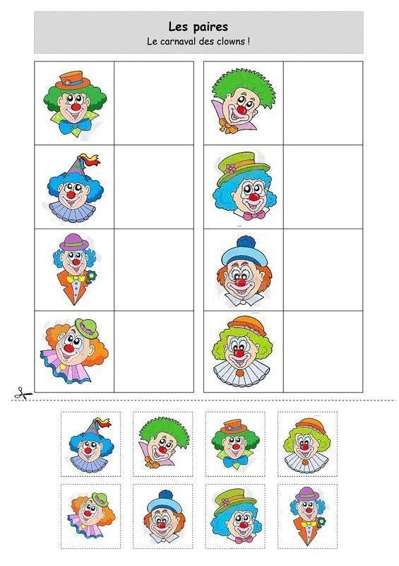 Les paires le carnaval des clowns - Jeux de clown tueur gratuit ...