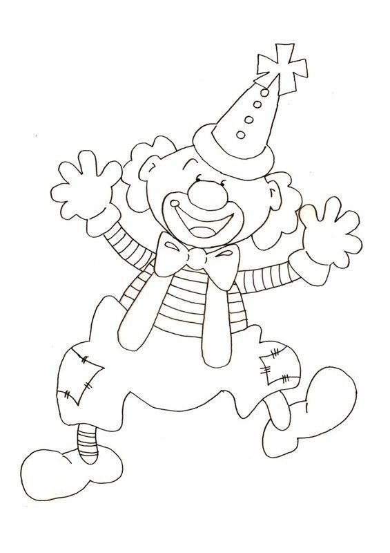 Coloriage canrnaval - Coloriage clown a imprimer ...