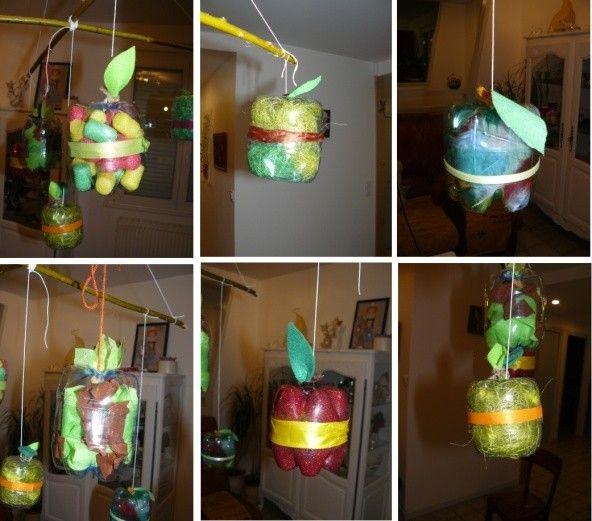 des pommes et encore des pommes activit manuelle avec bouteille en plastique. Black Bedroom Furniture Sets. Home Design Ideas
