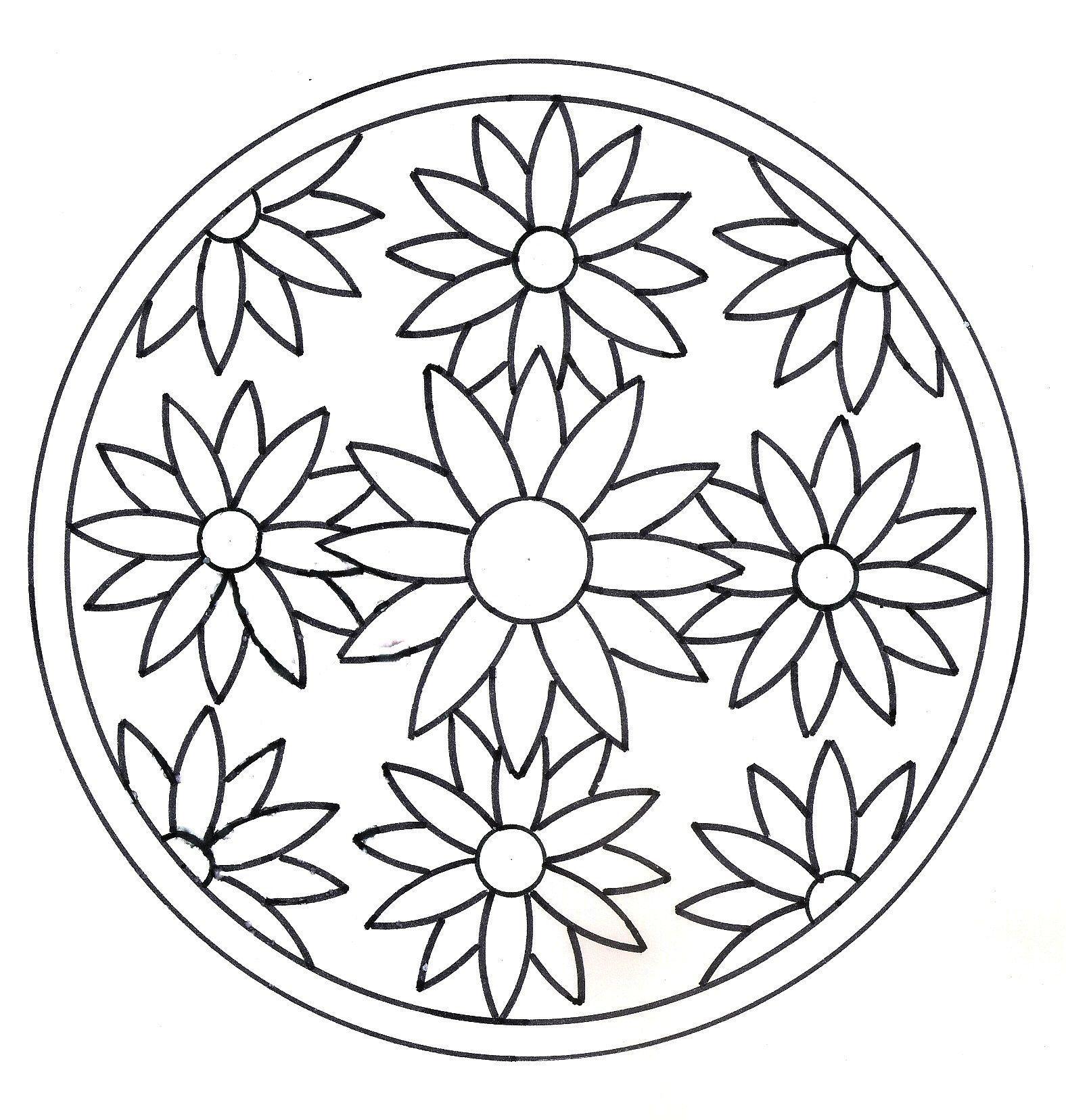 Coloriage Mandala Maternelle A Imprimer Gratuit.Coloriage Mandalas