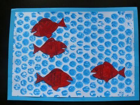 Tableau petits poissons rouges for Petit poisson rouge
