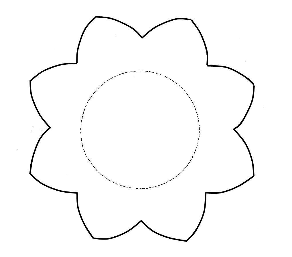 Gabarit fleur g ante - Modele dessin fleur ...