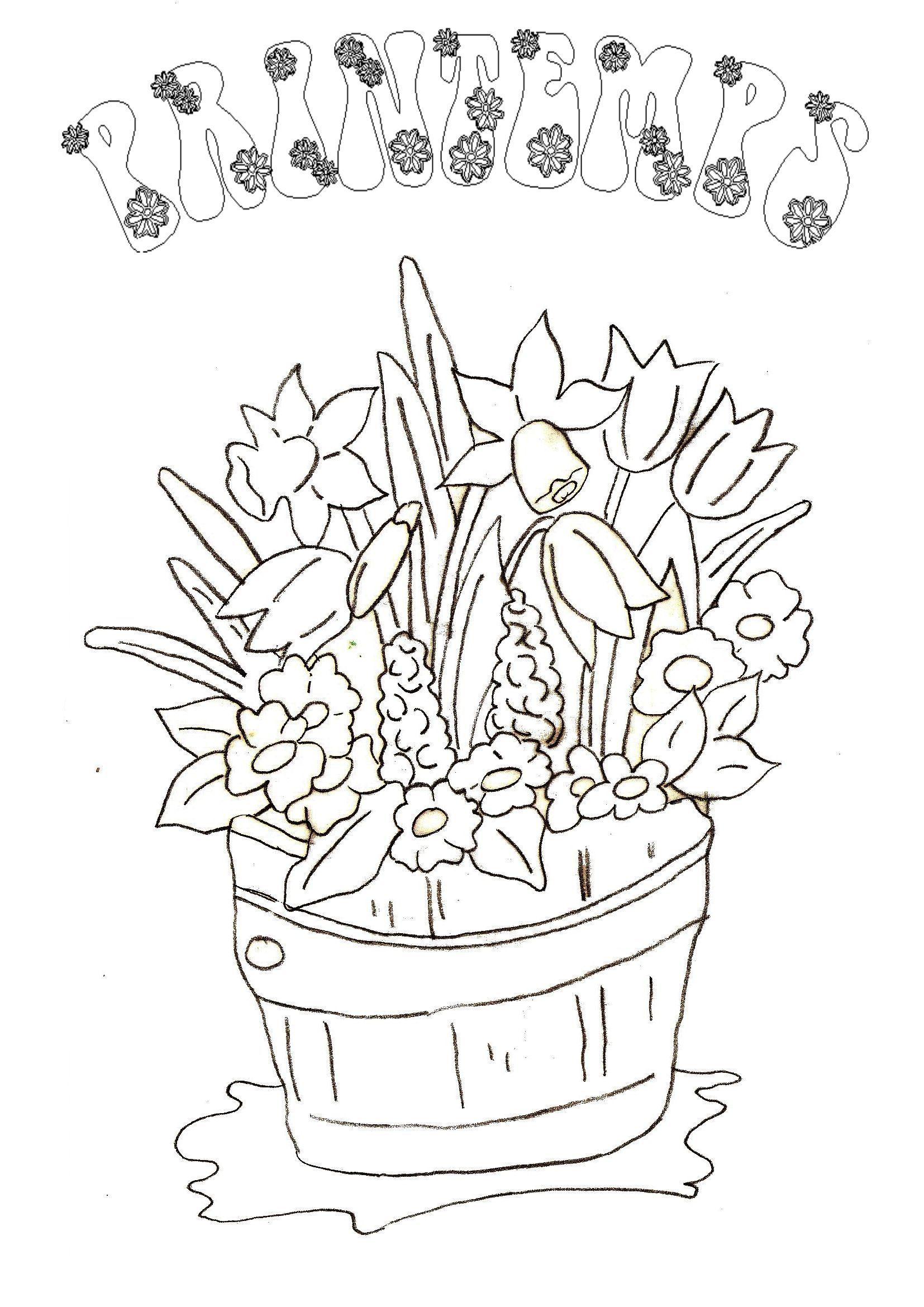 Coloriage printemps - Dessine gratuit ...