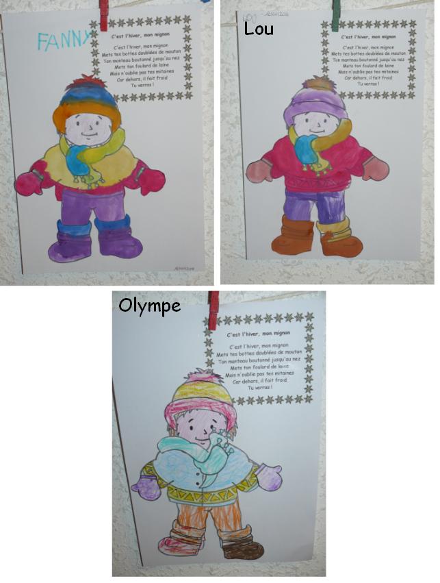 Comptines hiver - Activite hiver maternelle ...
