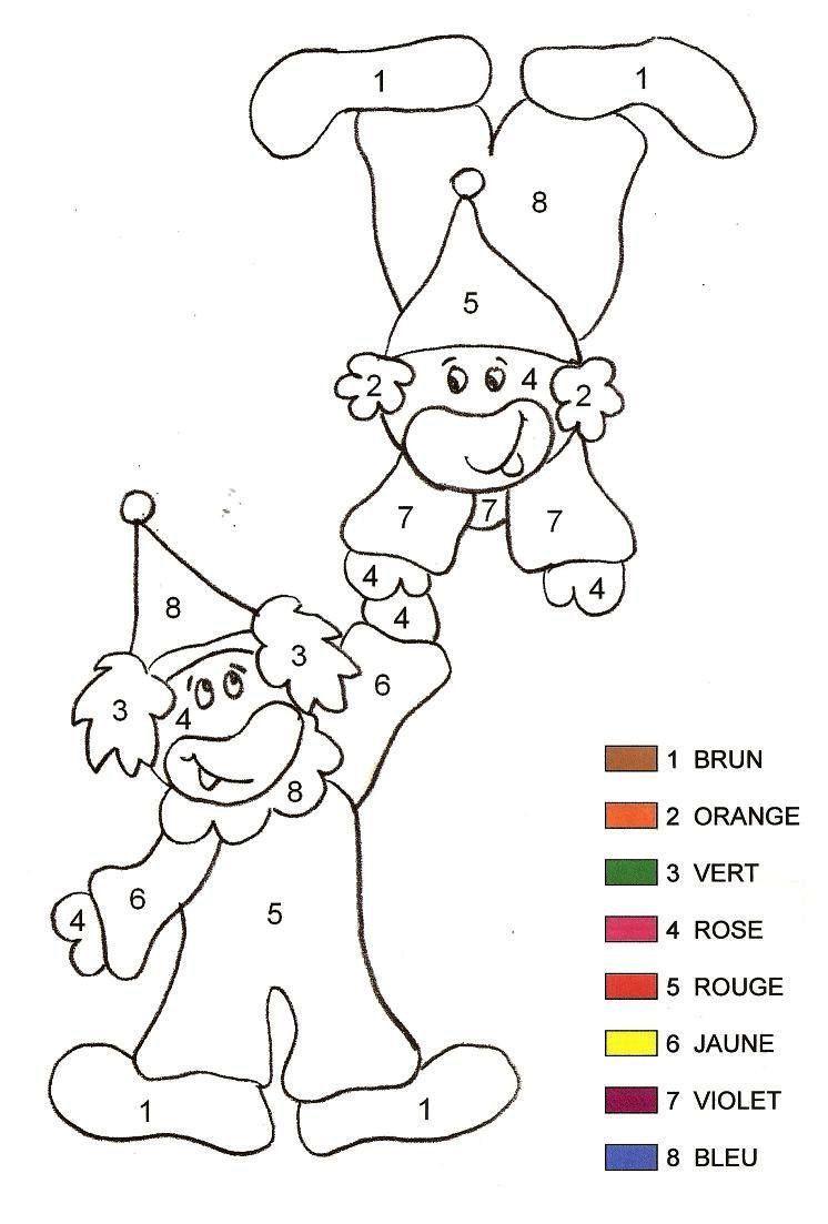 Coloriage magique clown 2 maternelle - Coloriage cirque maternelle ...