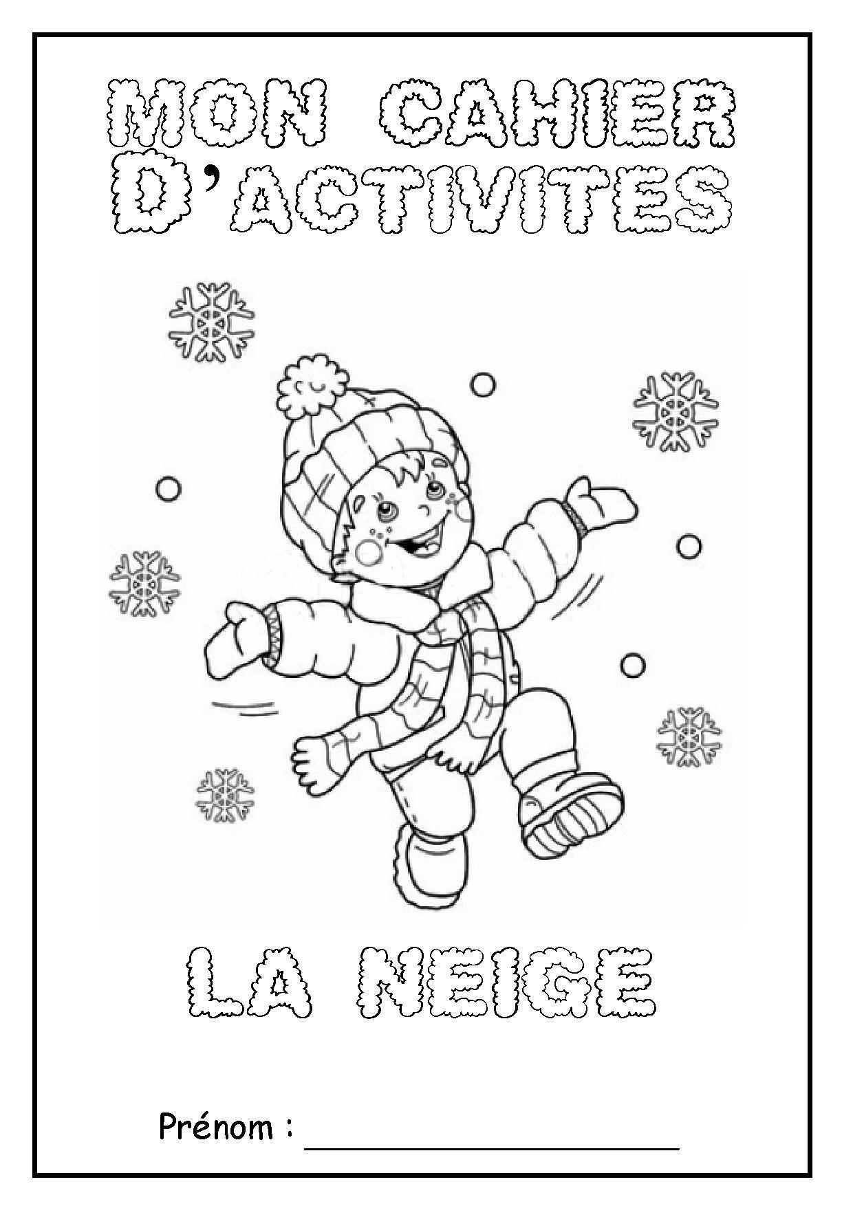 Un peu comme a ecole cahier - Activite hiver maternelle ...