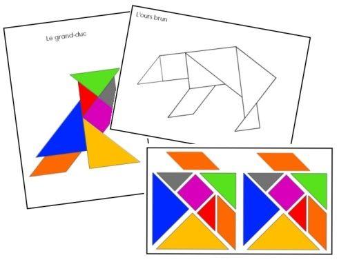 un peu comme a ecole tangram