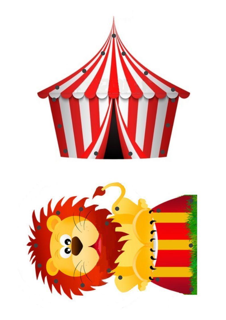 Activite de motricite fine le lacage - Dessin d un chapiteau de cirque ...