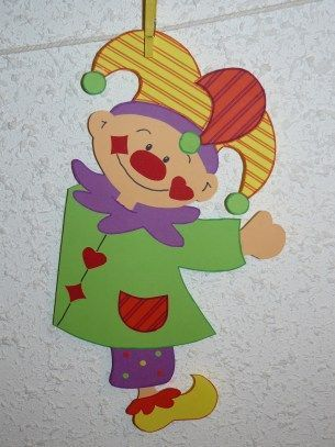 Decor de fenetre clown for Decoration fenetre carnaval