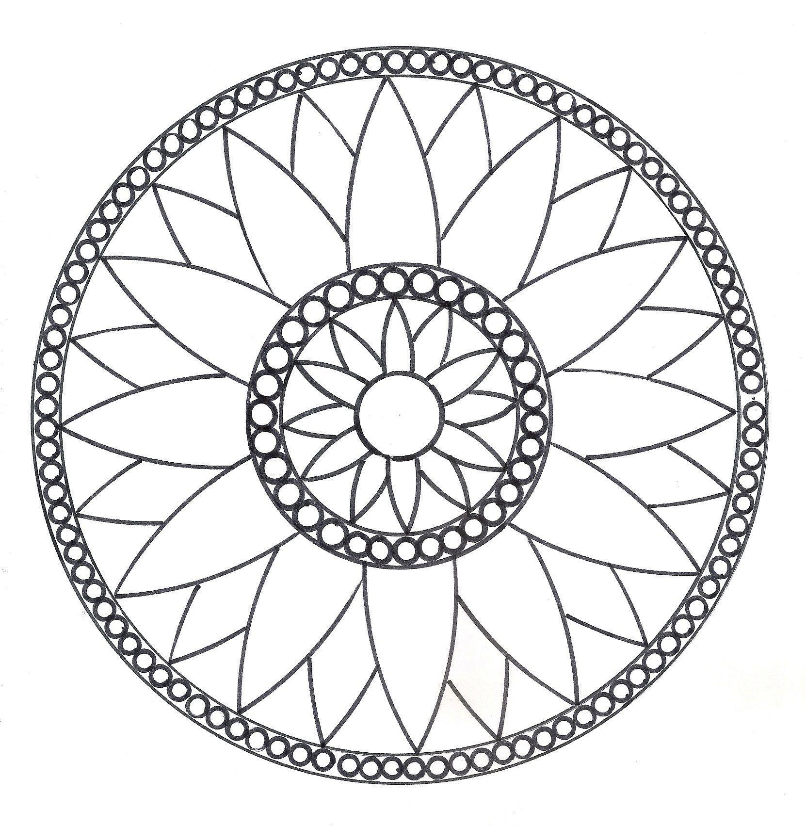 Mandalas - Rosace modèle n°1