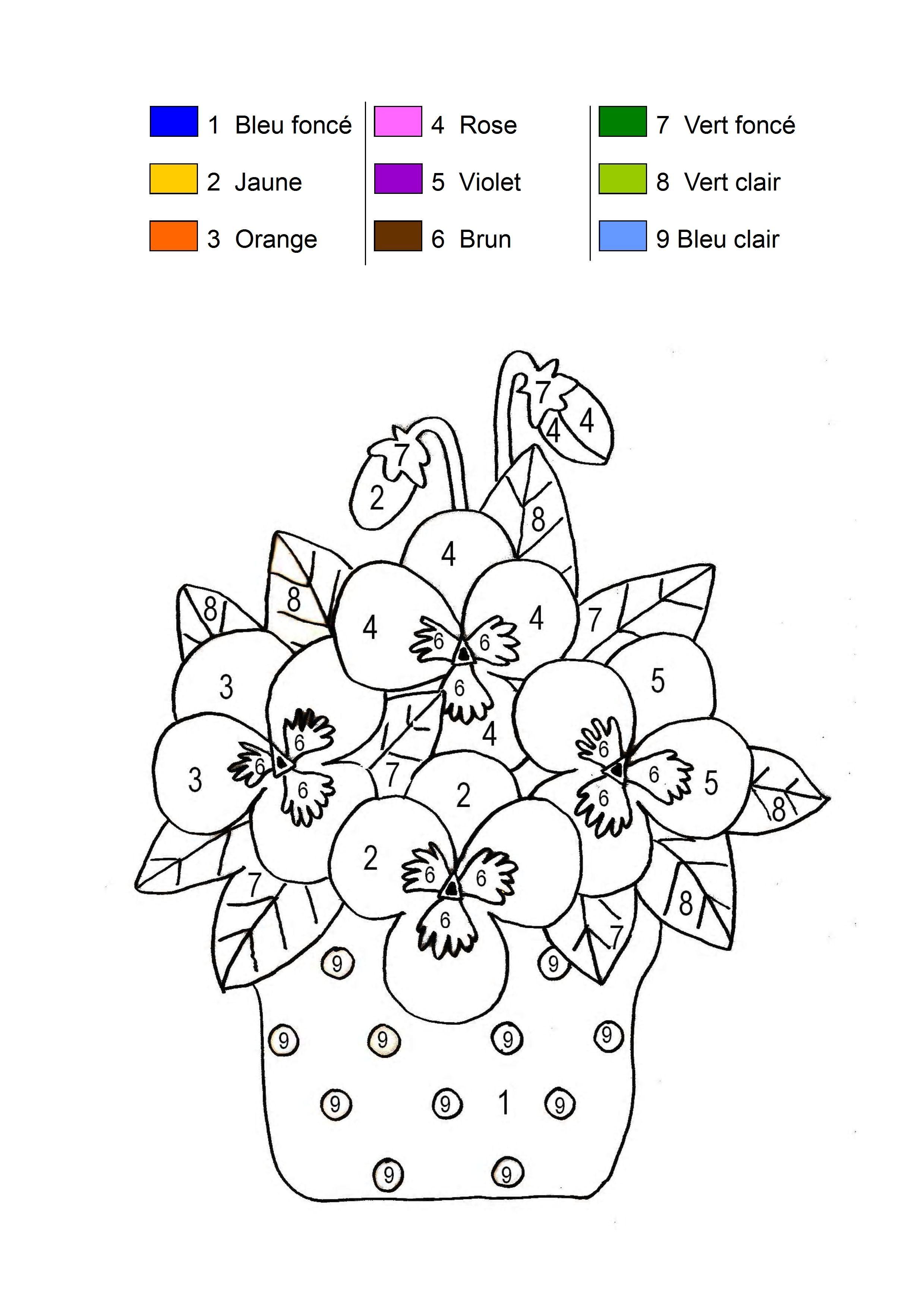 Coloriage Code Printemps Ms.Coloriage Magique
