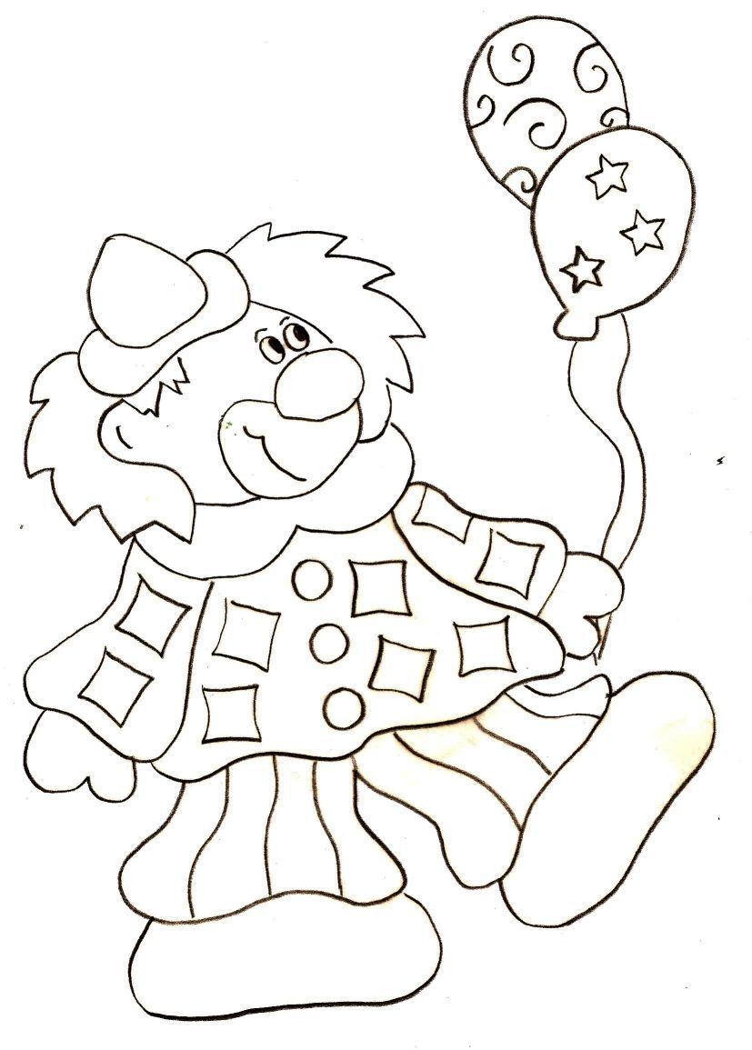 Coloriage canrnaval - Clown coloriage ...
