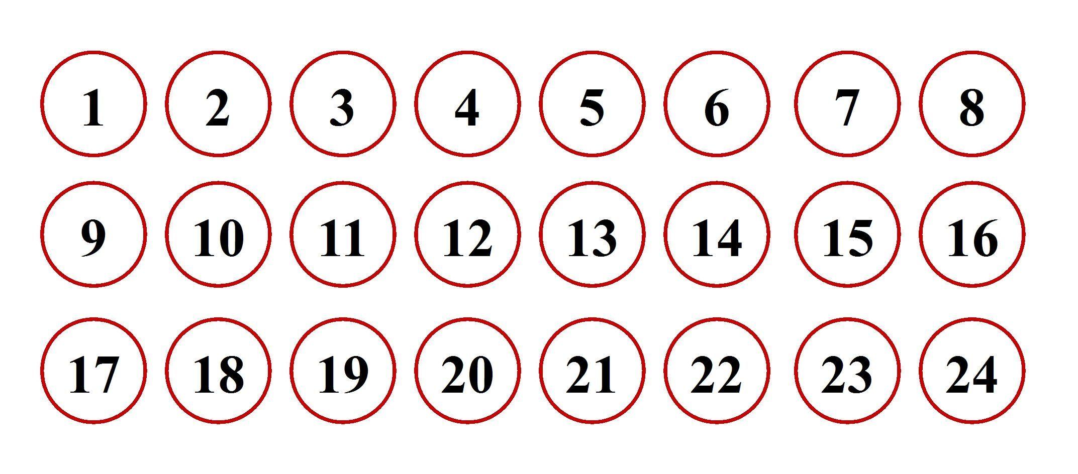 Gabarit calendrier de l 39 avent boites bonhommes de neige - Calendrier de l avent coloriage ...