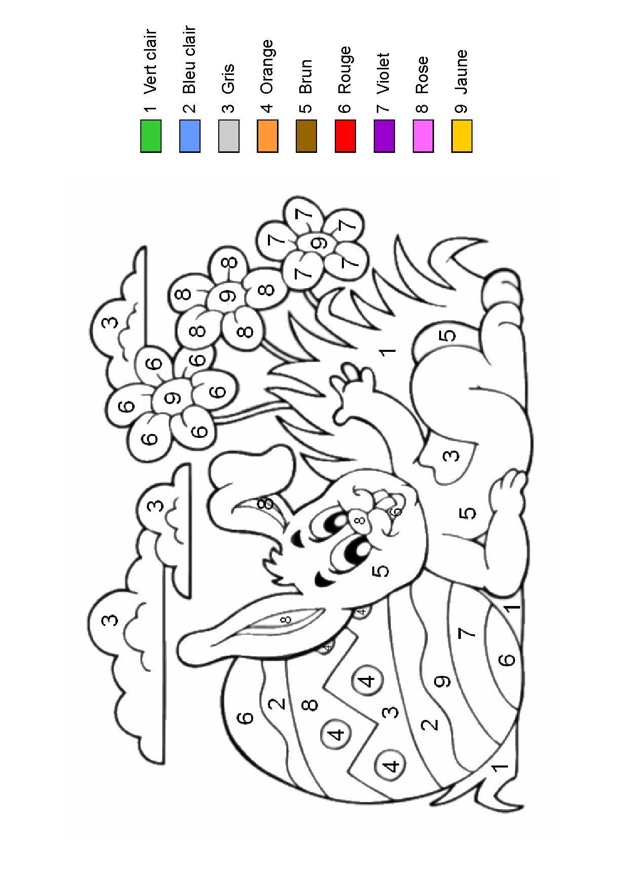 Coloriage magique - Coloriages paques ...