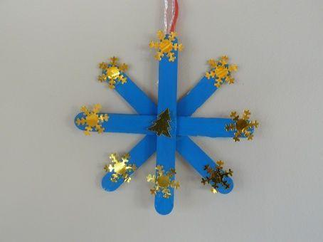 D coration de sapin flocon de neige - Flocon de neige decoration ...