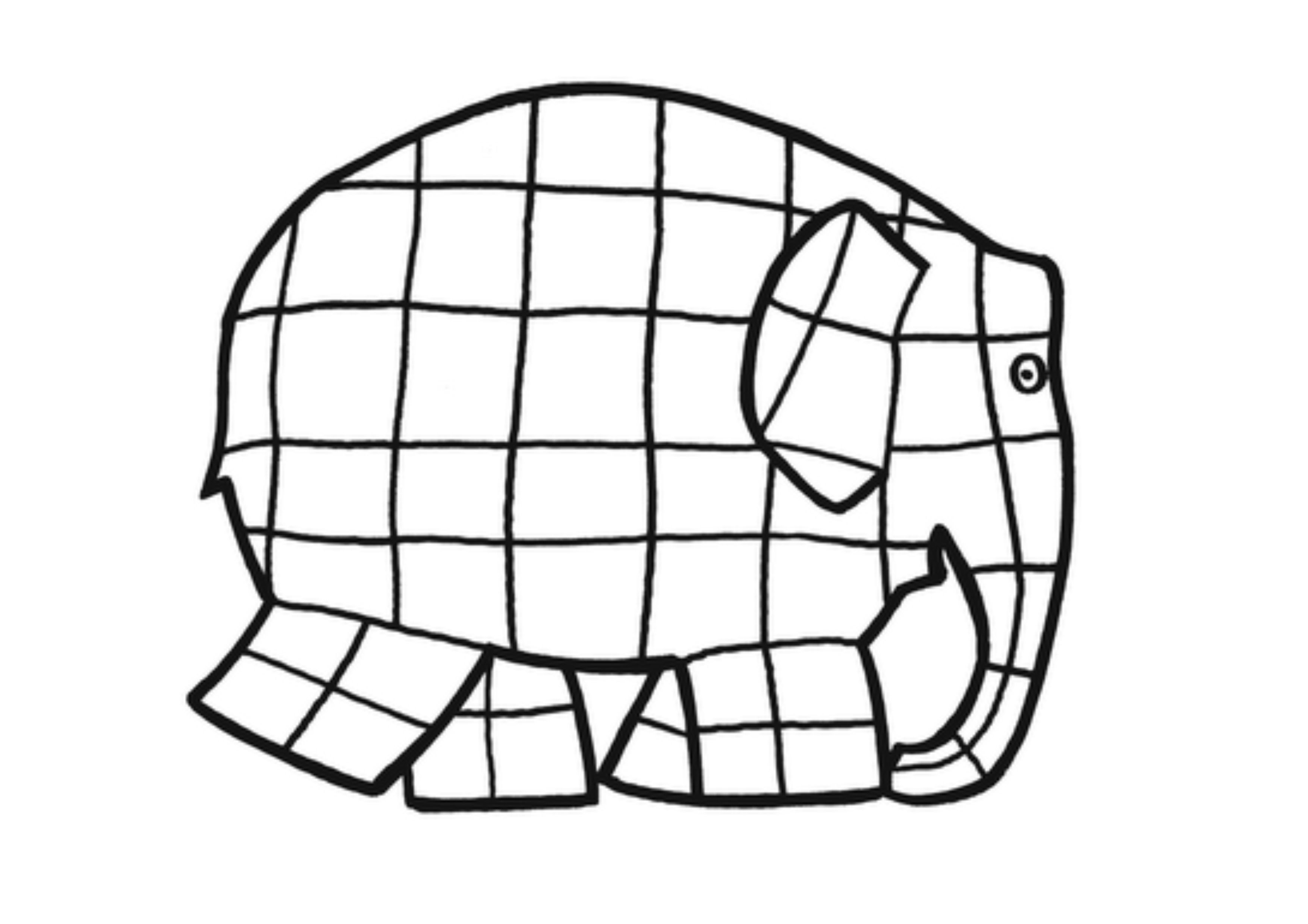 Elmer Elephant Coloring Pages Elmer Elephant Coloring Page