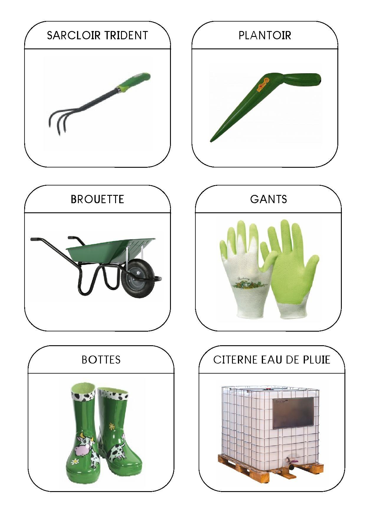 imagier du jardin les outils 2. Black Bedroom Furniture Sets. Home Design Ideas