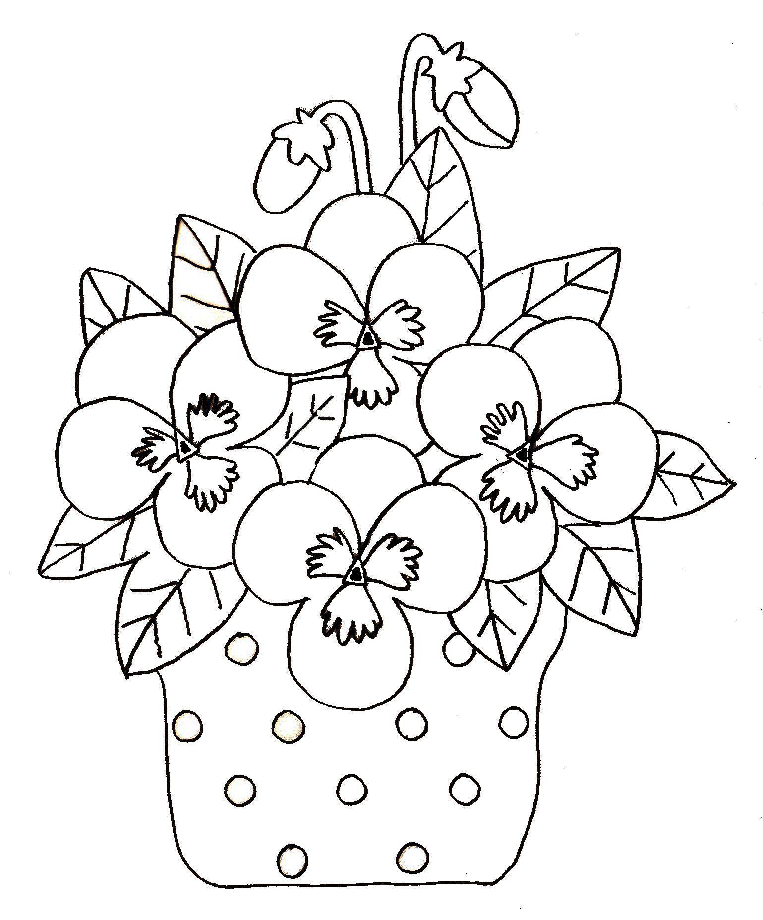 Coloriage printemps - Coloriage fleurs maternelle ...